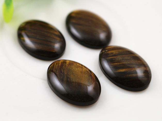 New Fashion 10pcs 18x25mm Amber Color Flat Back Resin Cabochons Cameo  G7-07