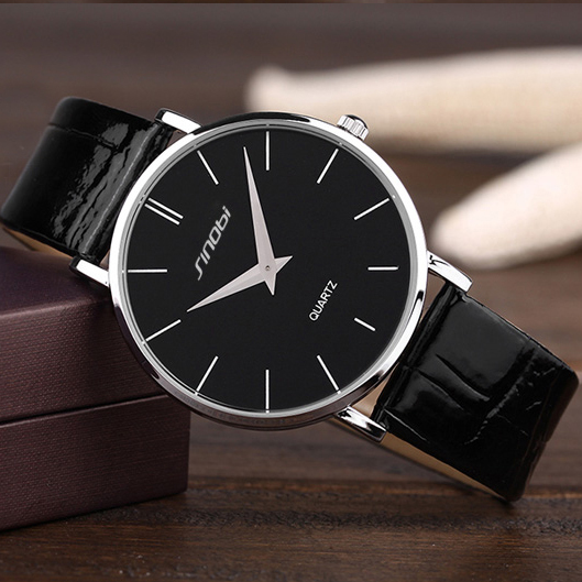 Top Brand SINOBI Watch Men Watch Ultra Thin Men's Watch Leather Wrist watches Clock saat erkek erkek saati relogio masculino sinobi top brand luxury wrist watches stainless steel watch men watch 3bar waterproof men s watch clock saat erkek kol saati