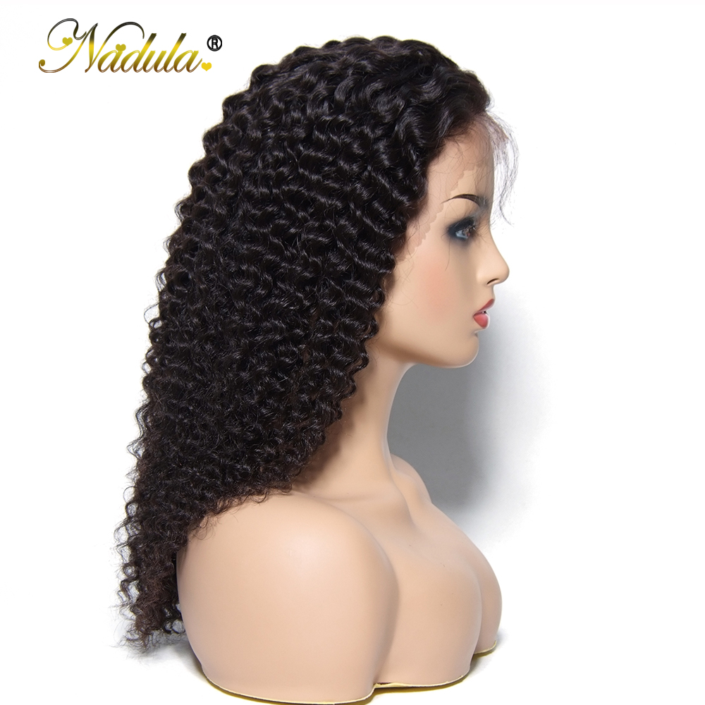 Nadula Full Lace Wigs Human Hair With Baby Hair Deep Wave Lace Frontal Human Hair Wigs Brazilian Hair Glueless Full Lace Wigs