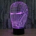 El Nuevo Star Wars iron man 3D luz LED atmósfera colorida lámpara de la lámpara de mesa táctil visual estéreo ilusión