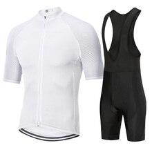 цена на Bycicle cyclng jersey set 2019 Pro team summer bycicle mtb road bike short sleeve bib pants kits men roupa maillot ciclismo sets