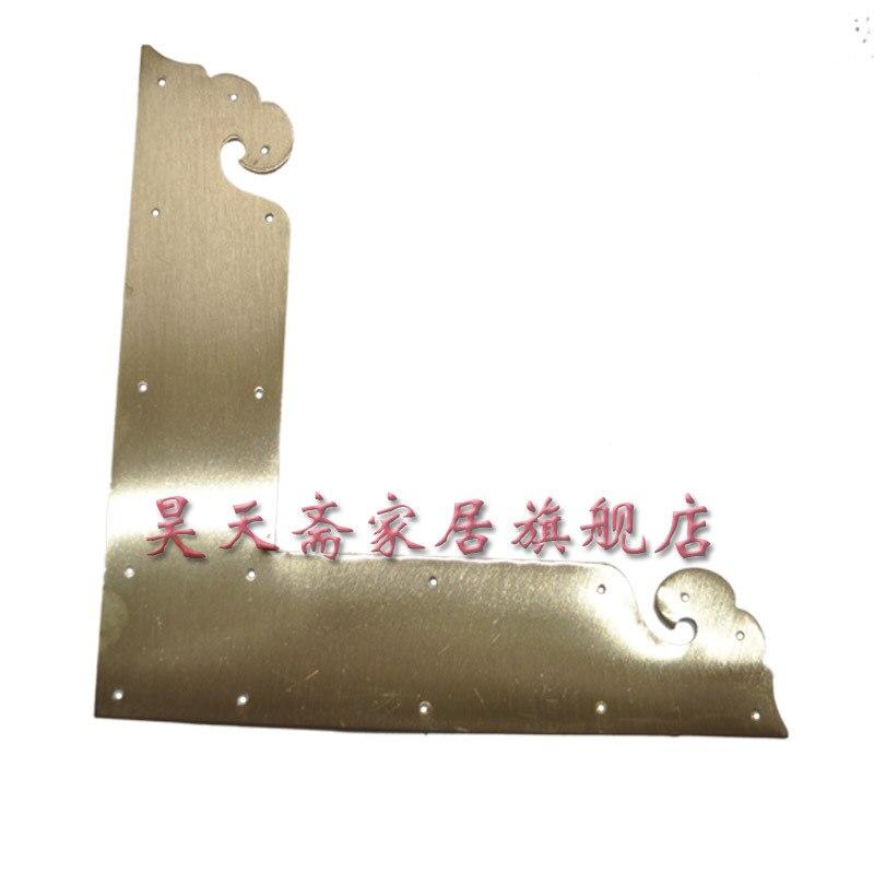[Haotian vegetarian] antique copper wrap angle / corner piece / antique furniture copper ornaments / Chinese fitting HTG-043 [haotian vegetarian] antique copper wrap angle corner piece antique furniture copper ornaments cupboard corners htg 057