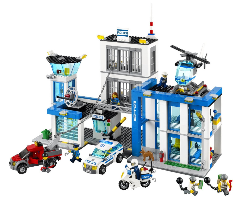 BELA City Police Station Building Blocks Classic For Girl Boy Kids Model Toys Marvel Compatible Legoe