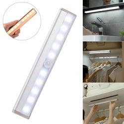 10 Светодиодная лампа в шкаф движения сенсор ночник с магнитной полосой CLH @ 8