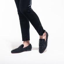 Handmade Rivets Fashion Loafers Men Shoe