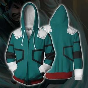 Image 4 - Cosroad Boku No My Hero Academia Midoriya Hoodies Izuku Todoroki Shoto Cosplay Costume Men Women Sweatshirt Jackets Coat