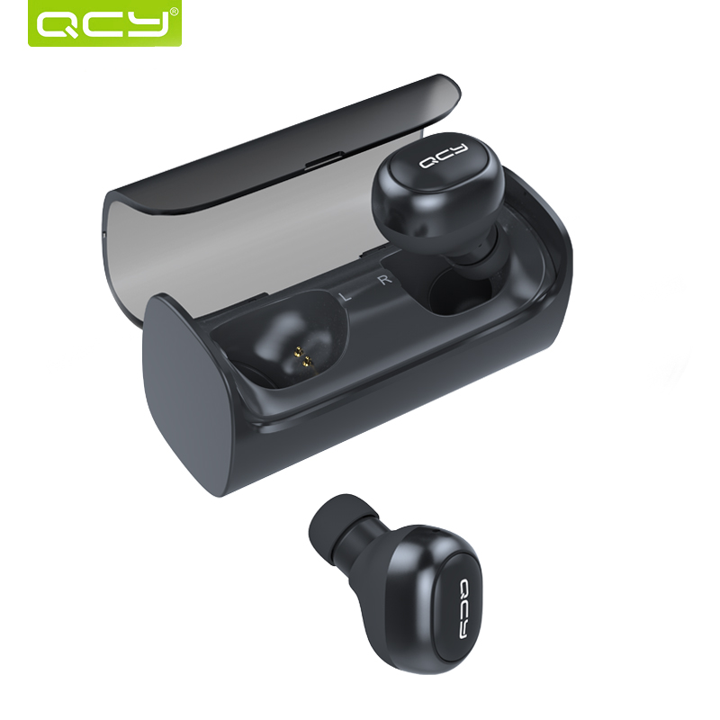 QCY Q29 Wireless Bluetooth Earphones 3D Stereo Music Headset and Charging Function Noise Cancelling Handsfree calls 2016 white and black joway h 08 wireless noise cancelling voice control sports stereo bluetooth v4 0 earphones with microphone