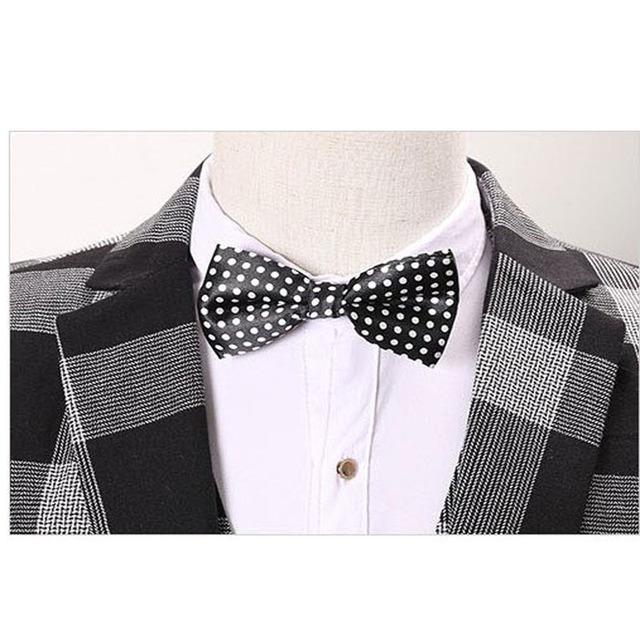 Men wedding suit 2016 Business plaid terno, three-piece suit, mens suits wedding groom, vestidos de festa, Brand blazer men 260