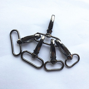 Image 1 - 20 шт./лот металлическая защелкивающаяся Пряжка для чемоданов и сумок, крючок для сумок, застежка карабин для самостоятельного шитья, пуговицы для ключей ручной работы