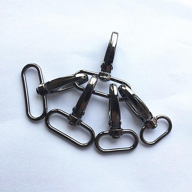 20 шт./лот металлическая защелкивающаяся Пряжка для чемоданов и сумок, крючок для сумок, застежка карабин для самостоятельного шитья, пуговицы для ключей ручной работы