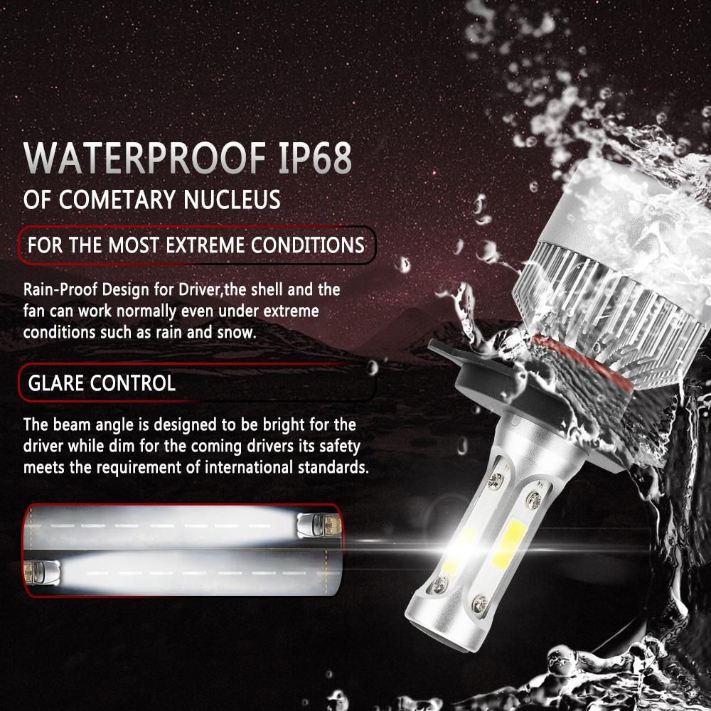 2 PCS H7 H4 H11 LED 12 V COB Headlight Mobil Bulb H1 H3 9005 9006 H13 - Lampu mobil - Foto 2