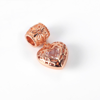 RainMarch Silver Charms Fit Pandora Bracelets 925 Silver Original Rose Gold Heart Beads Jewelry Making Dropshipping Bijuterias