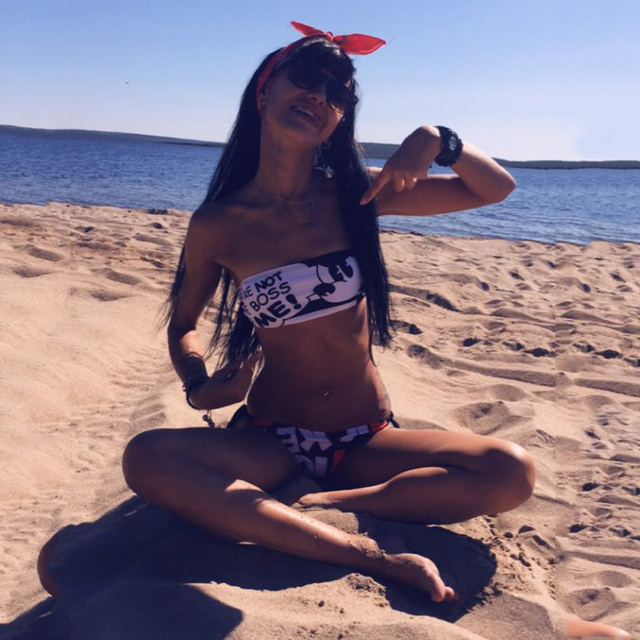 0997d07ea7368 Bikini 2019 Women Swimsuit Push Up Sewn Cartoon Pineapple Brazilian Bikini  Set Bathing Suit Plus Size Swimwear Biquini