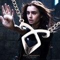 Europeus E Americanos Moda Jóias Filme Colar de Anjo Runa Poder Cidade Mortal Instruments Of Bones Rune Colar Pingente