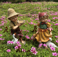 Resin Crafts Creative Characters Home Room Decorations American Country Garden Garden Animal Decoration