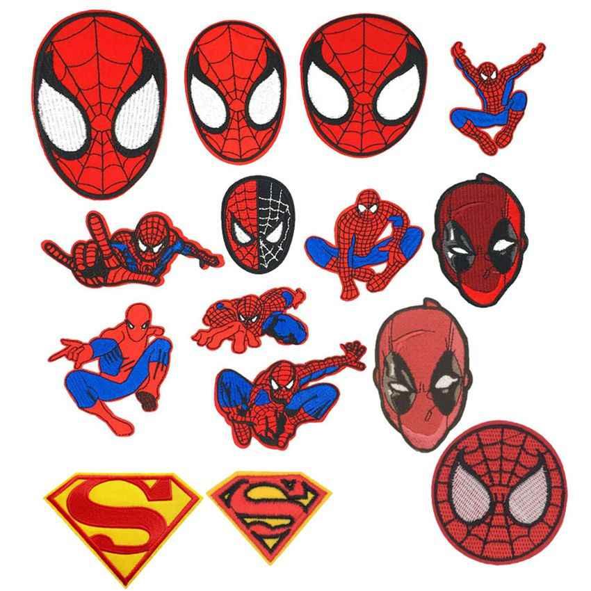 Человек-паук Дэдпул Человек-паук костюм маска для лица патч Бэтмен комиксы супергерой мультфильм Байкерский значок жилет для рыбалки куртка стикер