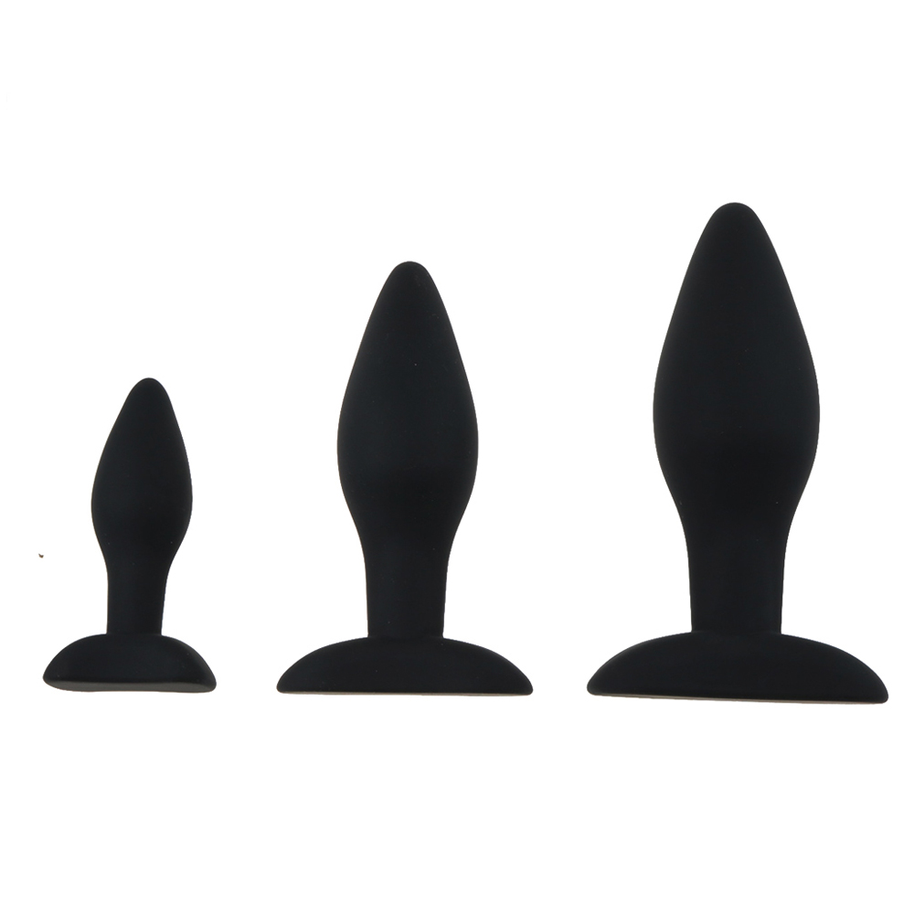 3 Size Anal Plug Silicone Butt Plug Large Huge Anal Bead Sex Toys for Women Anal Plug Unisex Erotic Toys Sex Products for Men 3
