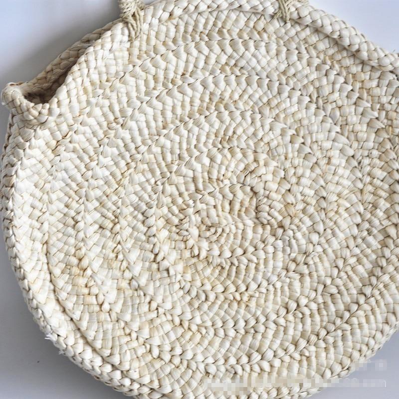 decorativa redonda tecido saco popular saco de palha bolsas