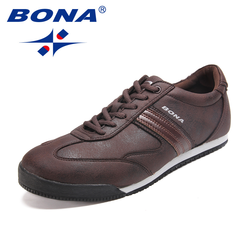 BONA New Fashion Style Men Casual Shoes Microfiber Men Loafers Lace Up Men Flats Outdoor Leisure Shoes Light Fast Free Shipping