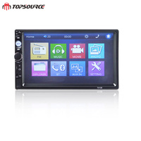 TOPSOURCE 7010B General 2 Din Car Radio MP5 Rearvien Camera 7 Inch HD Touch Screen Audio