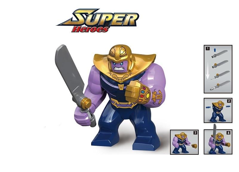 0296 20PCS Super Heroes INFINITY WAR Thanos Batman hulk building Blocks Bricks Children Toys Gift Compatible