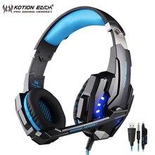 KOTION CADA G9000 Gaming headset fone de ouvido com cancelamento de ruído fones de ouvido de jogos para pc com microfone para PS4 Xbox One Laptop