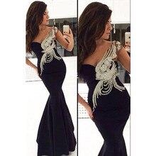 Sexy Black Mermaid 2016 Ballkleider mit Top Perlen Pailletten lange Glorious Bodenlangen Mutter der Braut Kleider für hochzeit