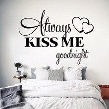 Naklejka na ścianę KISS ME