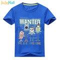 Jiuhehall Crianças Monstro Dos Desenhos Animados Imprimir T shirt do Menino Meninas Verão Tee Tops Roupa Dos Miúdos de Manga Curta 10 Cores 24 M-6 T ACM087
