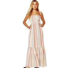 a76e8e141e Straped sukienka letnia kobieta drukowane plaży kobiet sukienka w dużym  rozmiarze seksualne Slim-line długa