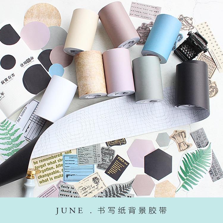 Moodtape  Washi/making Paper Tape Colour Can Write Ruler Off Paper Scrapbooking Album Diy Handmade Decoration Sticker