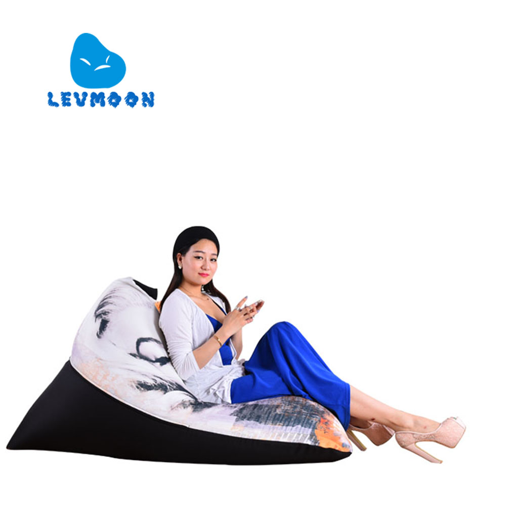 LEVMOON Beanbag Sofa Marilyn Monroe Seat Zac Comfort Bean Bag Bed Cover Without Filling Cotton Indoor Beanbags Lounge Chair levmoon beanbag sofa landscape painting seat zac comfort bean bag bed cover without filling cotton indoor beanbags lounge chair