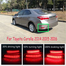 2pcs Led Rear Bumper Reflectors Lights LED Tail stop lights For Toyota Corolla 2014 2015 2016 Turn Signal Lights Brake lights цена