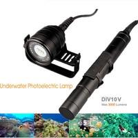 Nitesun/Brinyte Underwater photography 150m 3000 Lumens Brinyte DIV10V Magnetic Switch CREE 3XM L2 LED Diving Flashlight Torch