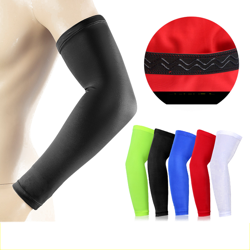 Arm Warmers Running Arm Sleeves Basketball Elbow Pad Fitness Armguards Breathable Quick Dry UV Protection Sports Cycling