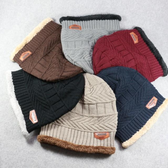 New Fashion Mens Hats Autumn/Winter Warm Cashmere Cap Head Caps Men Knitting Thicken Hat Riding Ear Protection Masculino Gorras
