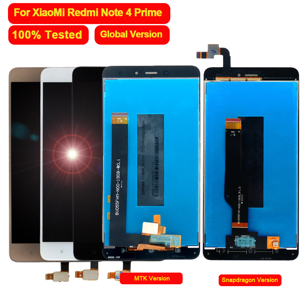 100% Tested for <font><b>Xiaomi</b></font> <font><b>Redmi</b></font> Note <font><b>4</b></font> <font><b>Pro</b></font> Prime LCD Display <font><b>Touch</b></font> <font><b>Screen</b></font> Digitizer Assembly for <font><b>Redmi</b></font> Note <font><b>4</b></font> Global Version Phone image