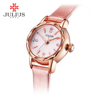Julius Lady Children Women's Watch Japan Quartz Hours Top Fashion Dress Bracelet Leather Mini Cute Shell Girl Christmas Gift Box