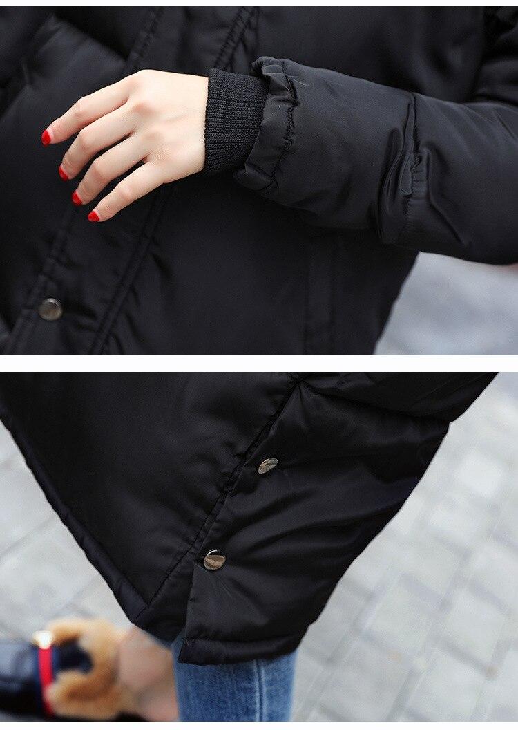 Moyen longueur Femelle Haute Grand 2017 Dame Manteau Coton Atmosphère Capuche D'hiver À Nouveau gaeen Mince Qualité gray Femme black Parke Doudoune S Pink SwxgwY0q