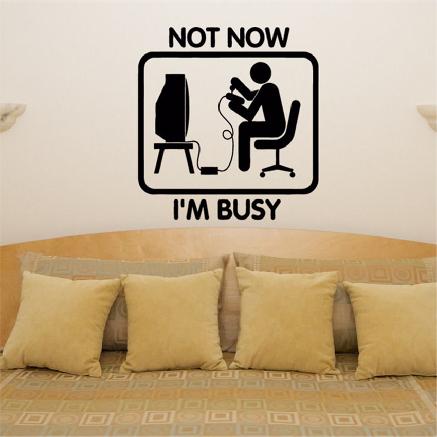home decor not now i'm busy gamer games xbox ps console bedroom