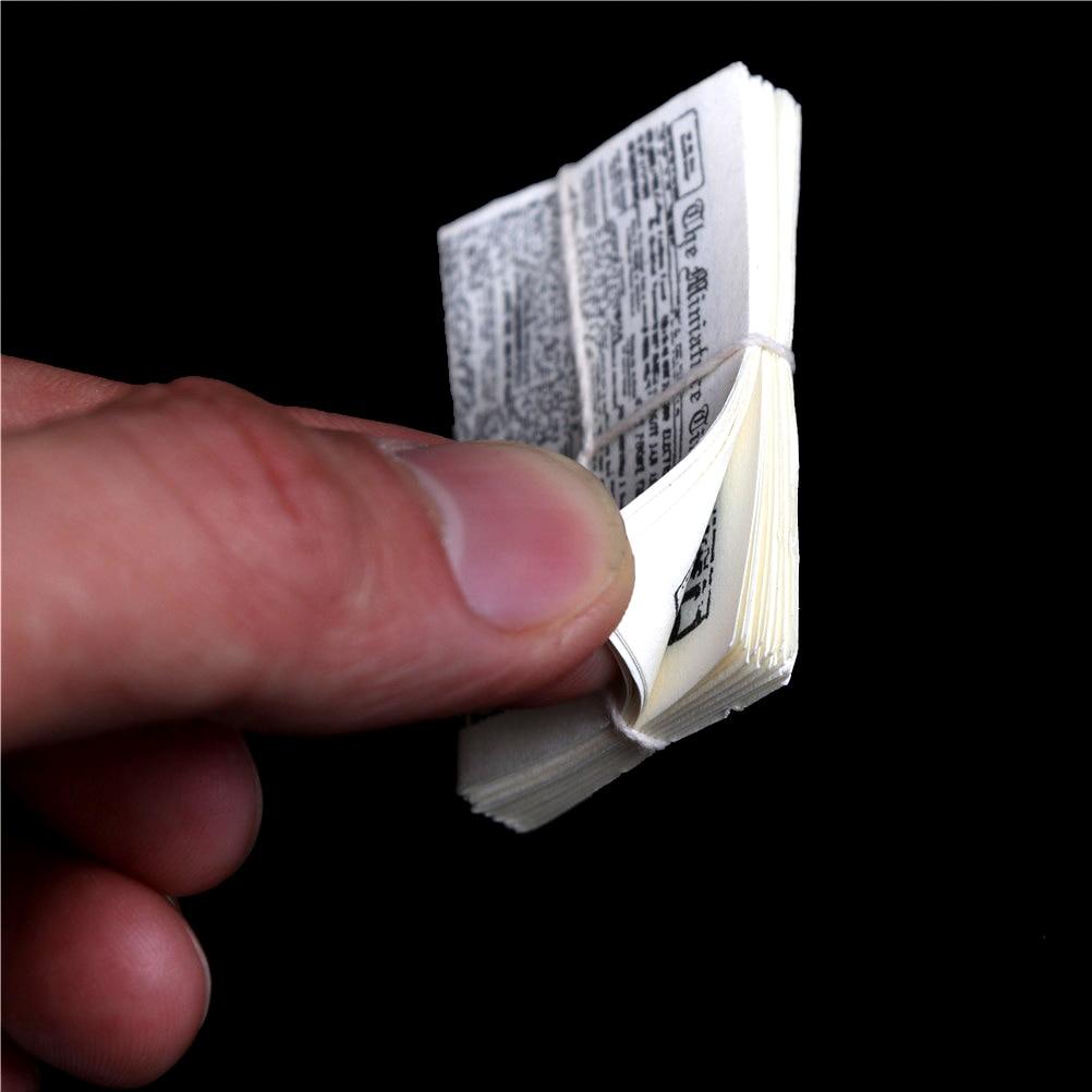 3*4.3*0.6cm Simulation 1 Bundle Of Newspaper For Children Pretend Play Toy Accessories 1:12 Dollhouse Miniature