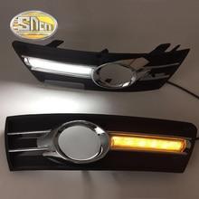Sncn LED дневного света для Volkswagen Passat CC 2010-2013, автомобильные аксессуары Водонепроницаемая 12 В DRL противотуманных фар украшения