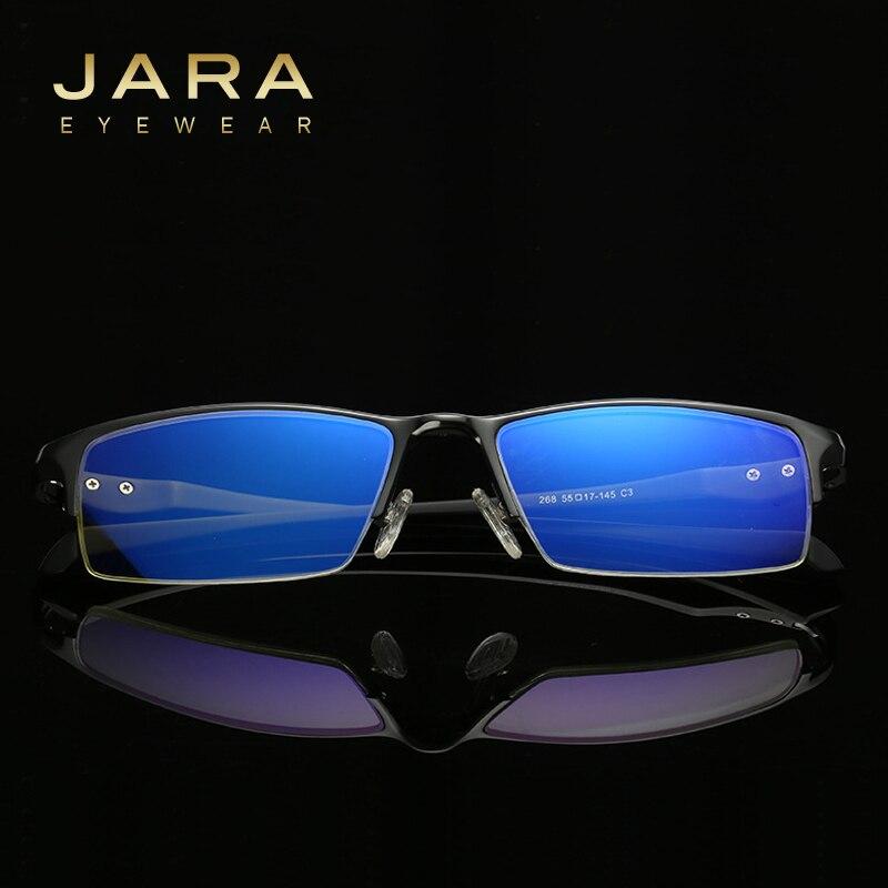 JARA Titanium Alloy Radiation Protection Eyeglasses TR90 Driving Computer Glasses Male Anti blue Ray Eyeglass Frame