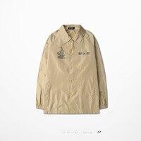 Sub 09 Print Baseball Jacket Black Khaki Bomber Jacket Old School Jacket Poppin Popping West Coast