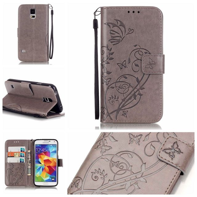 Luxury Retro PU Leather + Soft Silicon Wallet Flip Cover Case For Coque Samsung Galaxy S5 G900F Sm-g900F I9600 Case phone Fundas