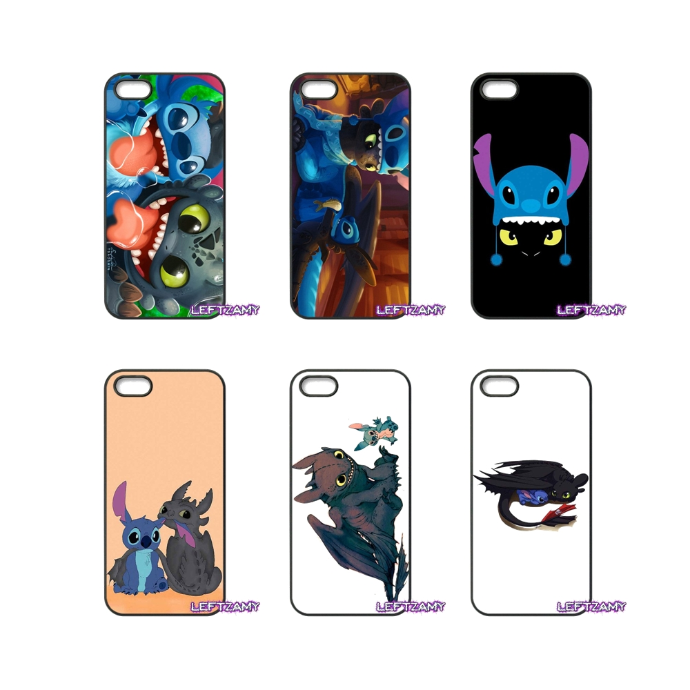 Toothless Dragon And Stitch Hard Phone Case Cover For HTC One M7 M8 M9 A9 Desire 626 816 820 830 Google Pixel XL One Plus X 2 3