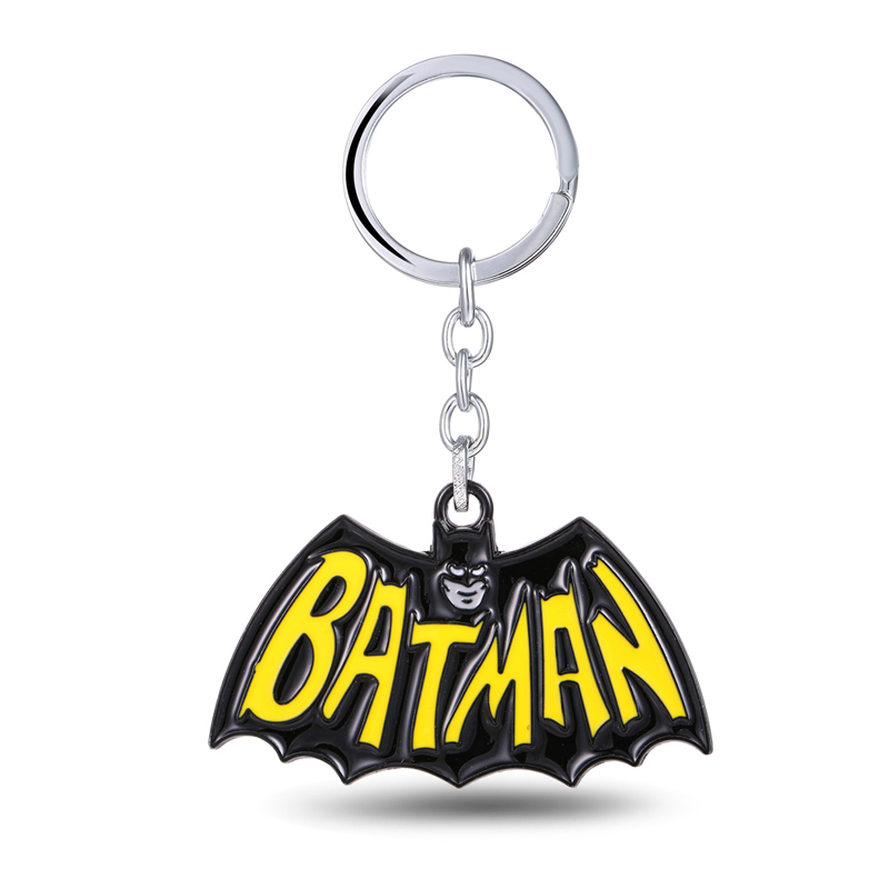 MS JEWELS Movie Show Superhero Batman Keychain Metal Key Rings For Gift Chaveiro Key Chain Jewelry