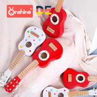 Onshine children wooden guitar ukulele beginner toys kids simulation instrument kindergarten toy 3Y+