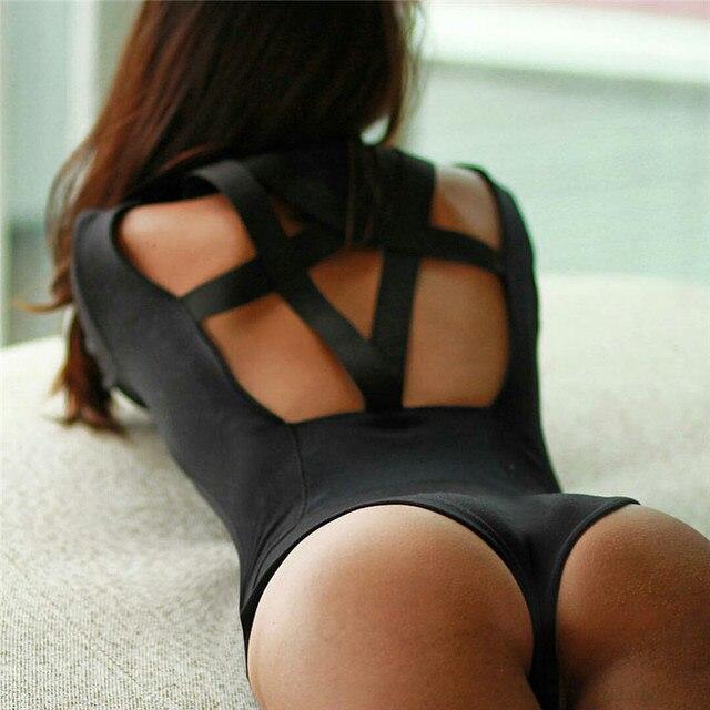 Женщины Сексуальная Длинным Рукавом комбинезон Оболочка Playsuit Bodycon Боди для женщин комбинезоны уличная Лето черный цельные костюмы