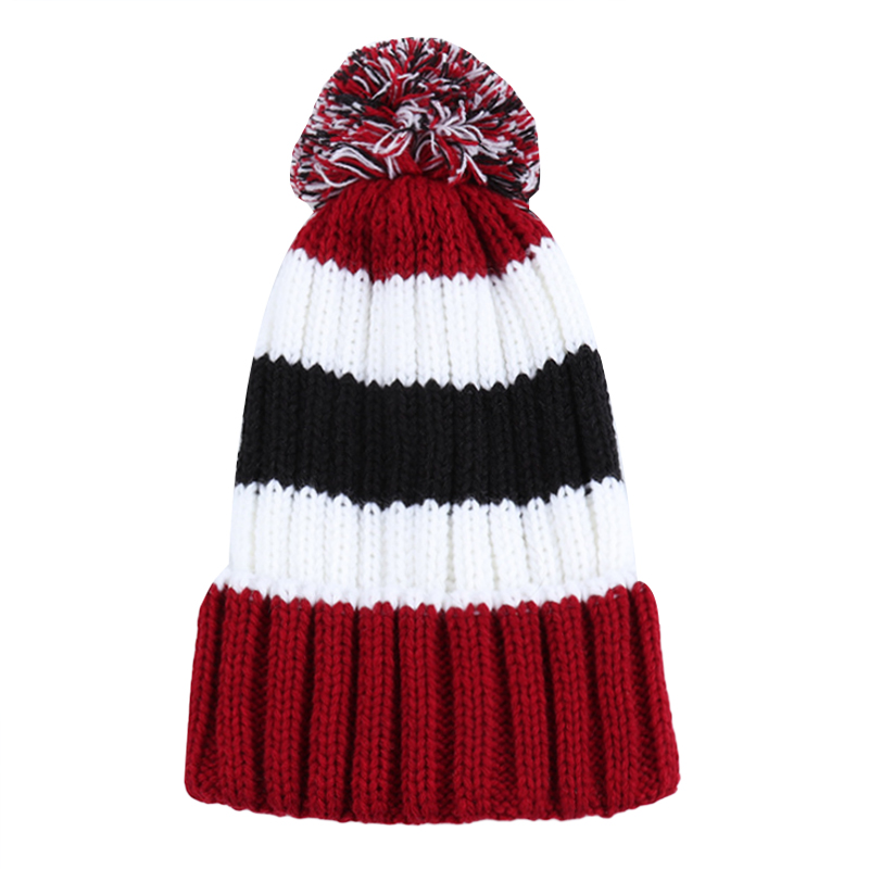 Baby Winter Hat 2017 Cute Fur Cap Pompom Ball Kids Girl Boy Fashion Knitted Wool Caps For Girls Boys Beanies Baby Hats